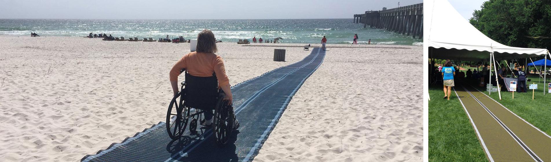 accés mobilité reduite plage