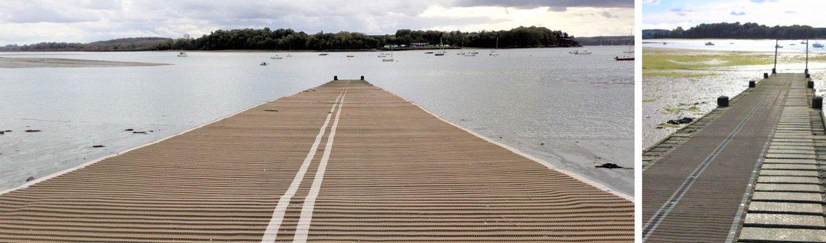 tapis anti dérapant pour ponton et mise à l'eau